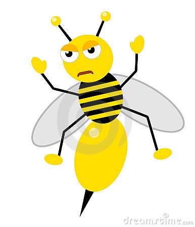 Honey bee angry