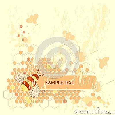 Free Honey Bee Banner Stock Photo - 5358780