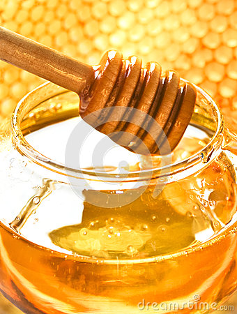 Honey and bee honeycomb