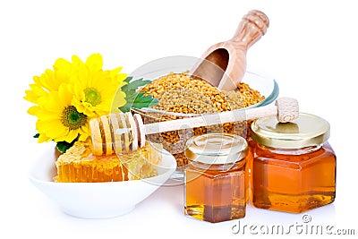 Honey and bee pollen