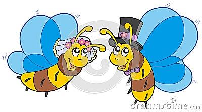 Honey bees wedding couple