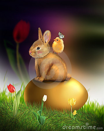 Honey bunny Easter greeting card