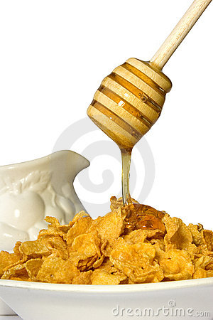 Free Honey & Cornflakes Royalty Free Stock Photos - 364208
