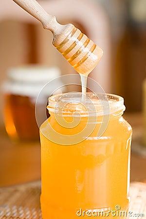 Honey and dipper