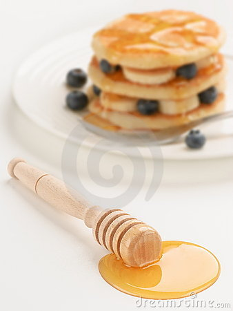 Honey Dipper (with breakfast in background)