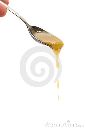 Honey drip from spoon