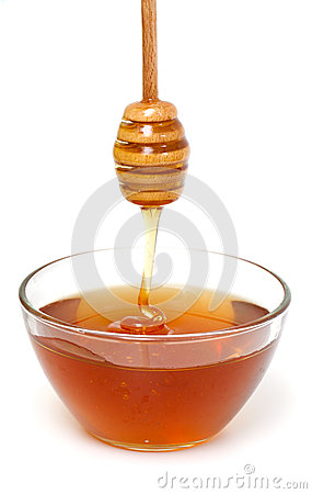 Free Honey Dripping From A Wooden Honey Dipper Stock Photos - 32794663
