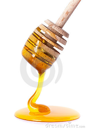 Free Honey Dripping From Dipper Stock Image - 16049111