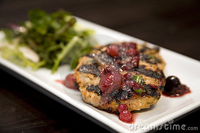 Honey glazed  chicken breast with dried fruit