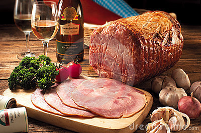 Honey Glazed Ham Editorial Stock Image