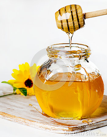 Free Honey In Glass Jars Royalty Free Stock Image - 25960696