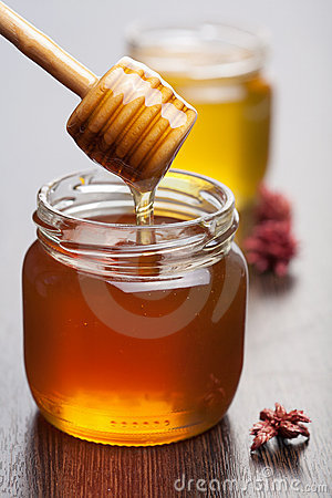 Free Honey In Jars Stock Photography - 17040432