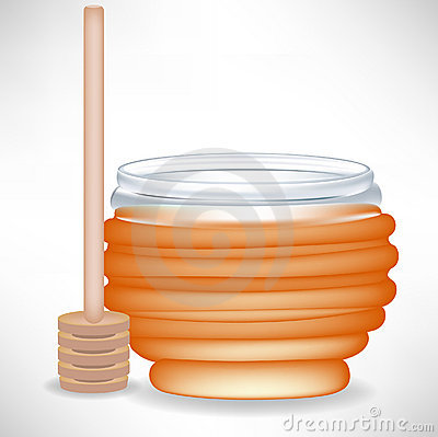 Honey jar with drizzle