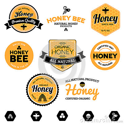Free Honey Labels Royalty Free Stock Image - 25393286