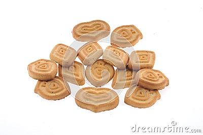 Honey,milk cookies isolated
