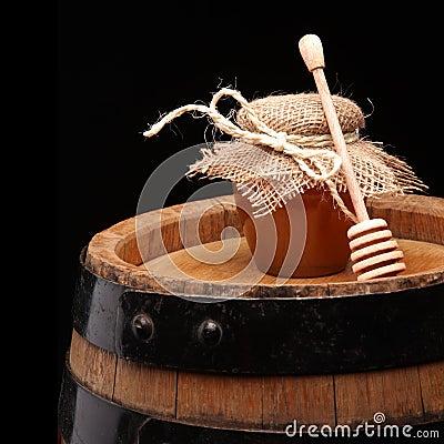 Honey pot and honey stick