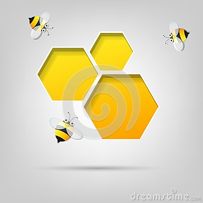 Honeycomb and the bees