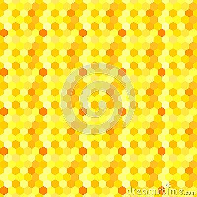 Honeycomb Hexagons Seamless Background