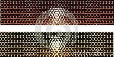 Honeycomb strip