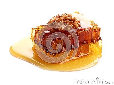 Honeycomb with walnut