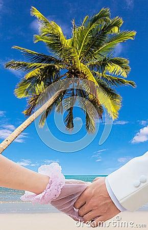 Honeymoon at beauty beach