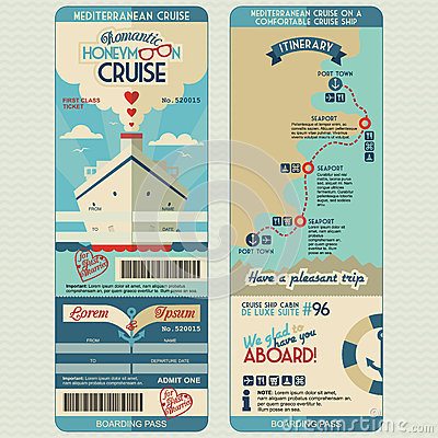 Free Honeymoon Cruise Boarding Pass Stock Image - 41917451