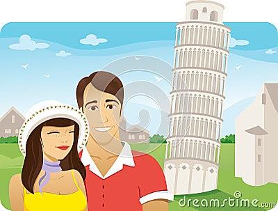 Honeymoon in Pisa tower