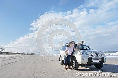 Honeymoon road trip at the beach