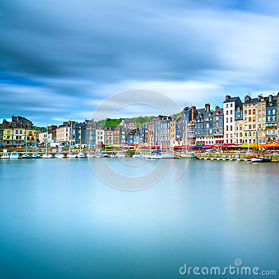 Free Honfleur Skyline Harbor And Water Reflection. Normandy, France Royalty Free Stock Photos - 38258518