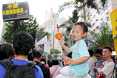 Hong Kong 1 July Marches 2012 Editorial Image