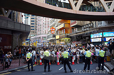 Hong Kong 1 July Marches Editorial Photo