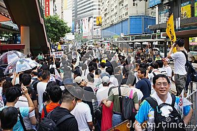 Hong Kong 1 July Marches Editorial Image