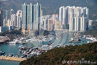 Hong Kong: Aberdeen Harbour Editorial Photography
