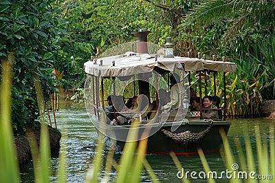 Hong Kong: African Safari Disneyland Boat Ride Editorial Stock Photo