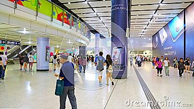 Hong kong airport express station Editorial Image