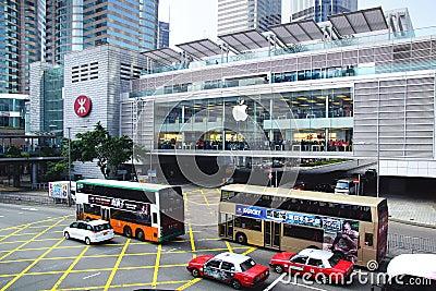 HONG KONG Apple Inc Redaktionell Arkivfoto