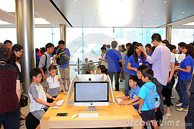 Hong Kong : Apple Store Editorial Photo