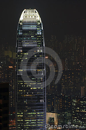 Hong Kong building by night
