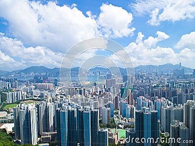 Hong Kong Buildings on Day
