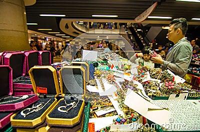 HONG KONG , CHINA - APRIL. 21 : THE PEAK HONG KONG market on Apr Editorial Stock Photo