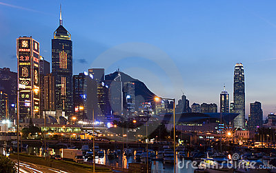 Hong Kong City Editorial Stock Photo