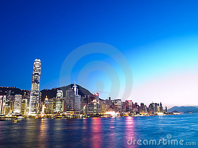 Hong Kong City and Victoria Harbour