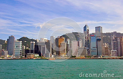 Hong Kong cityscape Editorial Photography