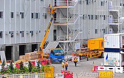 Hong kong construction site Editorial Stock Photo