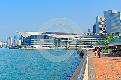 Hong kong convention and exhibition centre Editorial Photography