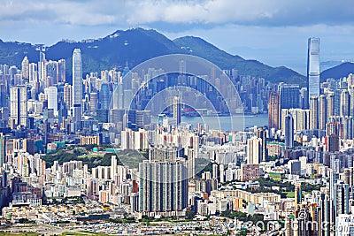 Hong Kong crowded building