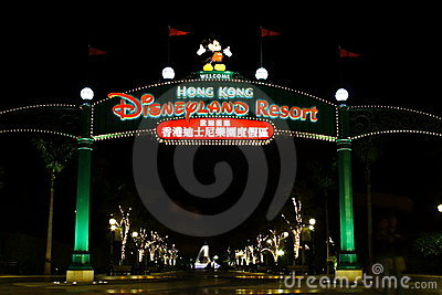 HONG KONG DISNEYLAND Editorial Photo