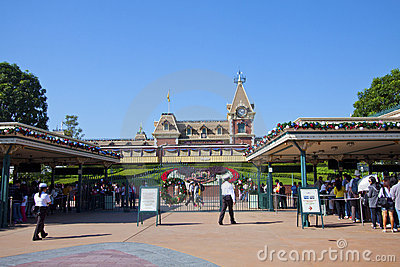 Hong Kong Disneyland entrance Editorial Image