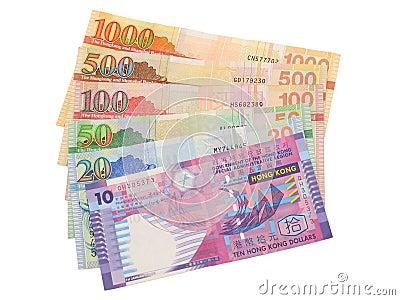 Hong Kong Dollar Bills Closeup Royalty Free Stock Photo - Image: 8088575