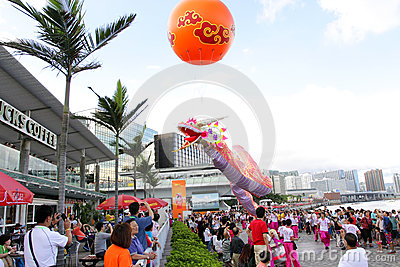 Hong Kong Dragon Boat Carnival 2012 Editorial Stock Image